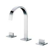 Polished Chrome Gooseneck Widespread Bathroom Faucet, Height: 10-1/32'' H, Spout Height: 6-13/32'' H, Spout Reach: 6-3/16'' D