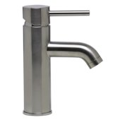 Brushed Nickel Single Lever Bathroom Faucet, Height: 7-1-4'' H, Spout Height: 3-3/8'' H, Spout Reach: 3-7/8'' D
