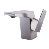 Brushed Nickel Modern Single Hole Bathroom Faucet, Height: 4-3/4'' H, Spout Height: 3-15/32'' H, Spout Reach: 4-21/32'' D