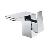 Polished Chrome Modern Single Hole Bathroom Faucet, Height: 4-3/4'' H, Spout Height: 3-15/32'' H, Spout Reach: 4-21/32'' D