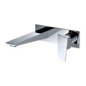 Polished Chrome Wall Mounted Bathroom Faucet, Height: 4-1/16'' H, Spout Depth: 7-31/32'' D, Spout Reach: 6-31/32'' D