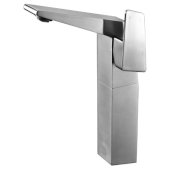 Brushed Nickel Single Hole Tall Bathroom Faucet, Height: 9-3/4'' H, Spout Height: 8-31/32'' H, Spout Reach: 6-5/8'' D