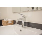Brushed Nickel Single Lever Bathroom Faucet, Height: 6-1/8'' H, Spout Height: 3-1/2'' H, Spout Reach: 4-3/4'' D