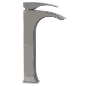 Tall Brushed Nickel Single Lever Bathroom Faucet, Height: 11-7/8'' H, Spout Height: 9-1/8'' H, Spout Reach: 3-5/8'' D