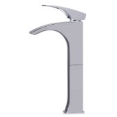 Tall Polished Chrome Single Lever Bathroom Faucet, Height: 11-7/8'' H, Spout Height: 9-1/8'' H, Spout Reach: 3-5/8'' D