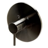 Brushed Nickel Pressure Balanced Round Shower Mixer, 7-7/8'' Diameter x 3'' H