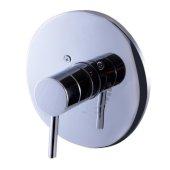 Polished Chrome Pressure Balanced Round Shower Mixer, 7-7/8'' Diameter x 3'' H