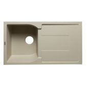 Biscuit 34'' Single Bowl Granite Composite Kitchen Sink with Drainboard, 33-7/8'' W x 19-3/4'' D x 9-1/16'' H