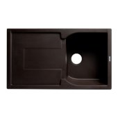ALFI brand 34'' Single Bowl Granite Composite Kitchen Sink with Drainboard in Chocolate, 33-7/8'' W x 19-3/4'' D x 9-1/16'' H