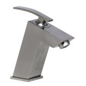 Brushed Nickel Single Lever Bathroom Faucet, Height: 6'' H, Spout Height: 3-1/8'' H, Spout Reach: 4-1/8'' D