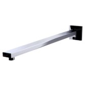 Polished Chrome 16'' Wall Mounted Square Shower Arm, 2-3/8'' W x 16-5/8'' D x 2-3/8'' H