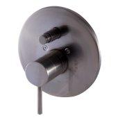 Brushed Nickel Pressure Balanced Round Shower Mixer with Diverter, 7-7/8'' Diameter x 3'' H