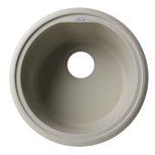 Biscuit 17'' Drop-In Round Granite Composite Kitchen Prep Sink, 17'' Diameter x 8-1/4'' H