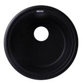 Black 17'' Drop-In Round Granite Composite Kitchen Prep Sink, 17'' Diameter x 8-1/4'' H