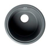ALFI brand 17'' Drop-In Round Granite Composite Kitchen Prep Sink in Titanium, 17'' Diameter x 8-1/4'' H