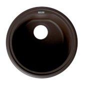 ALFI brand 17'' Undermount Round Granite Composite Kitchen Prep Sink in Chocolate, 17'' Diameter x 8-1/4'' H