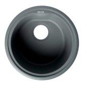ALFI brand 17'' Undermount Round Granite Composite Kitchen Prep Sink in Titanium, 17'' Diameter x 8-1/4'' H