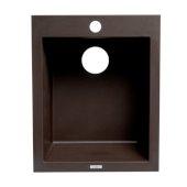 ALFI brand 17'' Drop-In Rectangular Granite Composite Kitchen Prep Sink in Chocolate, 16-1/8'' W x 19-7/8'' D x 8-1/4'' H