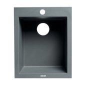 ALFI brand 17'' Drop-In Rectangular Granite Composite Kitchen Prep Sink in Titanium, 16-1/8'' W x 19-7/8'' D x 8-1/4'' H