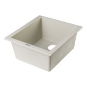 Biscuit 17'' D Undermount Rectangular Granite Composite Kitchen Prep Sink, 16-1/8'' W x 17'' D x 8-1/4'' H