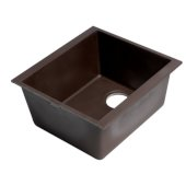 ALFI brand 17'' Undermount Rectangular Granite Composite Kitchen Prep Sink in Chocolate, 16-1/8'' W x 17'' D x 8-1/4'' H