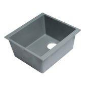 ALFI brand 17'' Undermount Rectangular Granite Composite Kitchen Prep Sink in Titanium, 16-1/8'' W x 17'' D x 8-1/4'' H