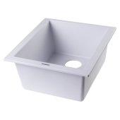 White 17'' D Undermount Rectangular Granite Composite Kitchen Prep Sink, 16-1/8'' W x 17'' D x 8-1/4'' H