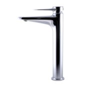 Polished Chrome Tall Single Hole Bathroom Faucet, Height: 11-5/8'' H, Spout Height: 9-5/16'' H, Spout Reach: 5-1/16'' D