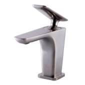 Brushed Nickel Single Hole Modern Bathroom Faucet, Height: 5-13/32'' H, Spout Height: 3-23/32'' H, Spout Reach: 4-7/32'' D