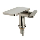 ALFI brand Single-Lever Bathroom Faucet in Brushed Nickel, Faucet Height: 4-7/8'' H, Spout Reach: 5'' D, Spout Height: 5-1/4'' H