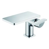 ALFI brand Single-Lever Bathroom Faucet in Polished Chrome, Faucet Height: 4-7/8'' H, Spout Reach: 5'' D, Spout Height: 5-1/4'' H