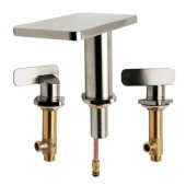 ALFI brand Two-Handle 8'' Widespread Bathroom Faucet in Brushed Nickel, Faucet Height: 4-7/8'' H, Spout Reach: 5'' D, Spout Height: 5-1/4'' H