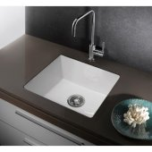ALFI brand 20'' x 17'' Fireclay Undermount Kitchen Sink in White, 20'' W x 17'' D x 8'' H