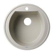 Biscuit 20'' Drop-In Round Granite Composite Kitchen Prep Sink, 20'' Diameter x 8'' H