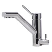 Solid Polished Stainless Steel Kitchen Faucet with Built in Water Dispenser, 6-7/8'' H
