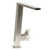 Square Modern Brushed Stainless Steel Kitchen Faucet, 10-3/8'' H