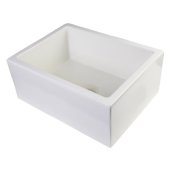24'' Biscuit Smooth Thick Wall Fireclay Single Bowl Farm Sink, 23-5/8'' W x 18'' D x 10'' H
