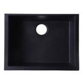 Black 24'' Undermount Single Bowl Granite Composite Kitchen Sink, 23-5/8'' W x 16-7/8'' D x 8-1/4'' H