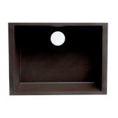 ALFI brand 24'' Undermount Single Bowl Granite Composite Kitchen Sink in Chocolate, 23-5/8'' W x 15-3/4'' D x 8-1/4'' H