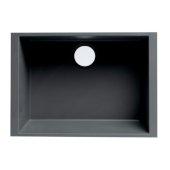 ALFI brand 24'' Undermount Single Bowl Granite Composite Kitchen Sink in Titanium, 23-5/8'' W x 15-3/4'' D x 8-1/4'' H