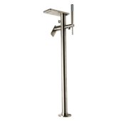 ALFI brand Free Standing Floor Mounted Bath Tub Filler in Brushed Nickel, Faucet Height: 35-7/8'' H, Spout Reach: 6-3/8'' D