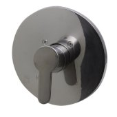 Brushed Nickel Shower Valve Mixer with Rounded Lever Handle, 7-1/8'' Diameter x 3'' H