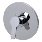 Polished Chrome Shower Valve Mixer with Rounded Lever Handle, 7-1/8'' Diameter x 3'' H