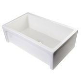 30'' Biscuit Arched Apron Thick Wall Fireclay Single Bowl Farm Sink, 30'' W x 18-1/8'' D x 10'' H