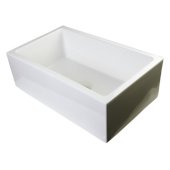 30'' Biscuit Smooth Apron Thick Wall Fireclay Single Bowl Farm Sink, 30'' W x 18-1/8'' D x 10'' H
