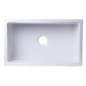 30'' x 18'' Undermount White Fireclay Kitchen Sink, 30'' W x 18'' D x 10'' H