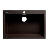 ALFI brand 30'' Drop-In Single Bowl Granite Composite Kitchen Sink in Chocolate, 29-7/8'' W x 19-7/8'' D x 8-1/4'' H