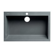 ALFI brand 30'' Drop-In Single Bowl Granite Composite Kitchen Sink in Titanium, 29-7/8'' W x 19-7/8'' D x 8-1/4'' H