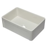 30'' Biscuit Reversible Single Fireclay Farmhouse Kitchen Sink, 29-3/4'' W x 20-7/8'' D x 9-7/8'' H