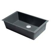 ALFI brand 30'' Undermount Single Bowl Granite Composite Kitchen Sink in Titanium, 29-7/8'' W x 17-1/8'' D x 8-1/4'' H